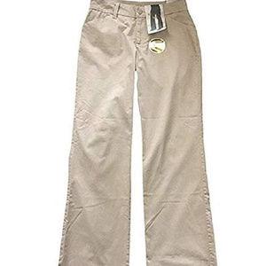 Womens Riders Lee Khaki Curvy Trousers Midrise 14P